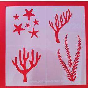 Deniz Canlıları Stencil