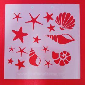Deniz Kabukları Stencil