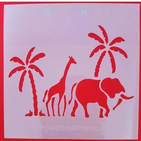 Safari Temalı Stencil