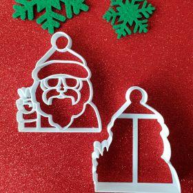 Yeni Yıl Temalı Kurabiye Kalıp (Noel Baba)