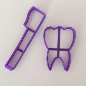Diş ve Diş Fırçası Kurabiye Kalıbı