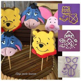 Winnie The Pooh Kurabiye Kalıpları